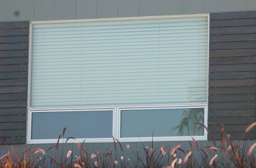 Milgard Aluminum Double Bottom Awning Picture Window Above 2 3 Over 1 3
