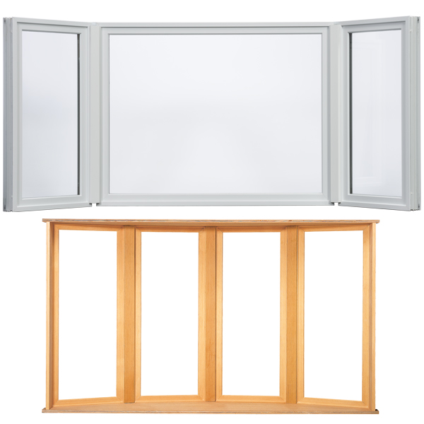 Milgard woodclad 3 sided 45 degree bay with casement end for Milgard windows price list