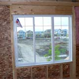 Nail-On frame window for new construction